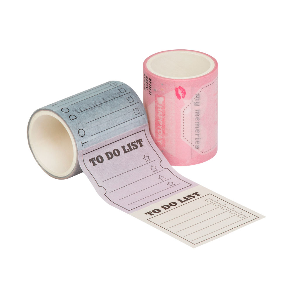 Washi Tape To Do List Rosa