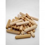 Cavilha madeira estriada 10 mm - 100 pcs