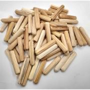 Cavilha madeira estriada 8 mm - 100 pcs