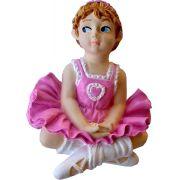 Puxador Infantil Resina Bailarina Rosa