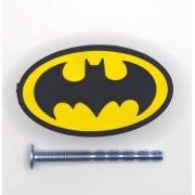 Puxador gaveta infantil emborrachado Escudo Batman dc comics