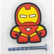 Puxador gaveta infantil emborrachado Homem de Ferro Marvel