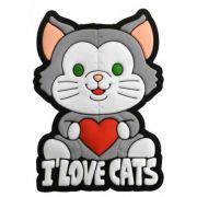 Puxador Infantil Emborrachado I LOVE CATS