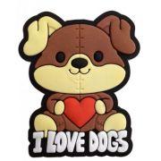 Puxador Infantil Emborrachado I LOVE DOGS