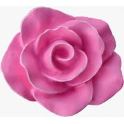 Puxador Infantil Resina Flor Provençal Rosa