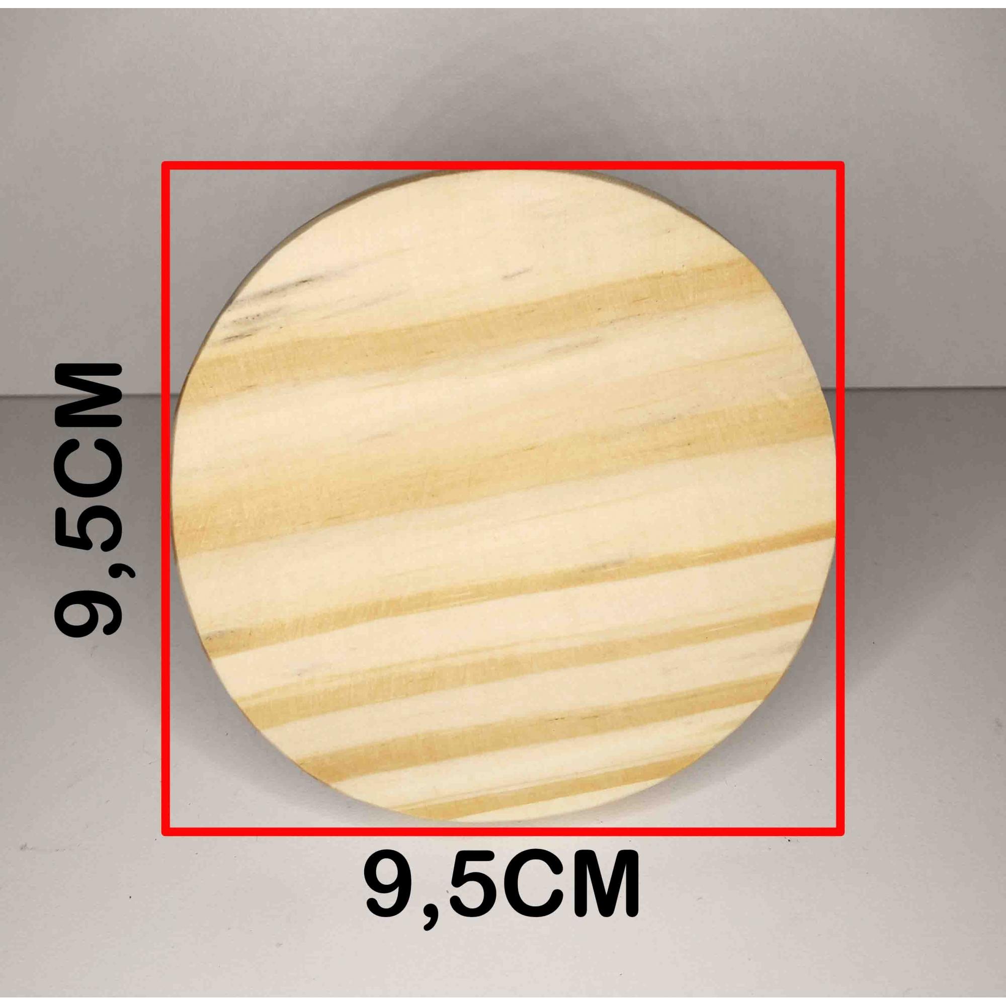 Cabide de Madeira Pinus Natural 9,5 cm Diâmetro - Unidade