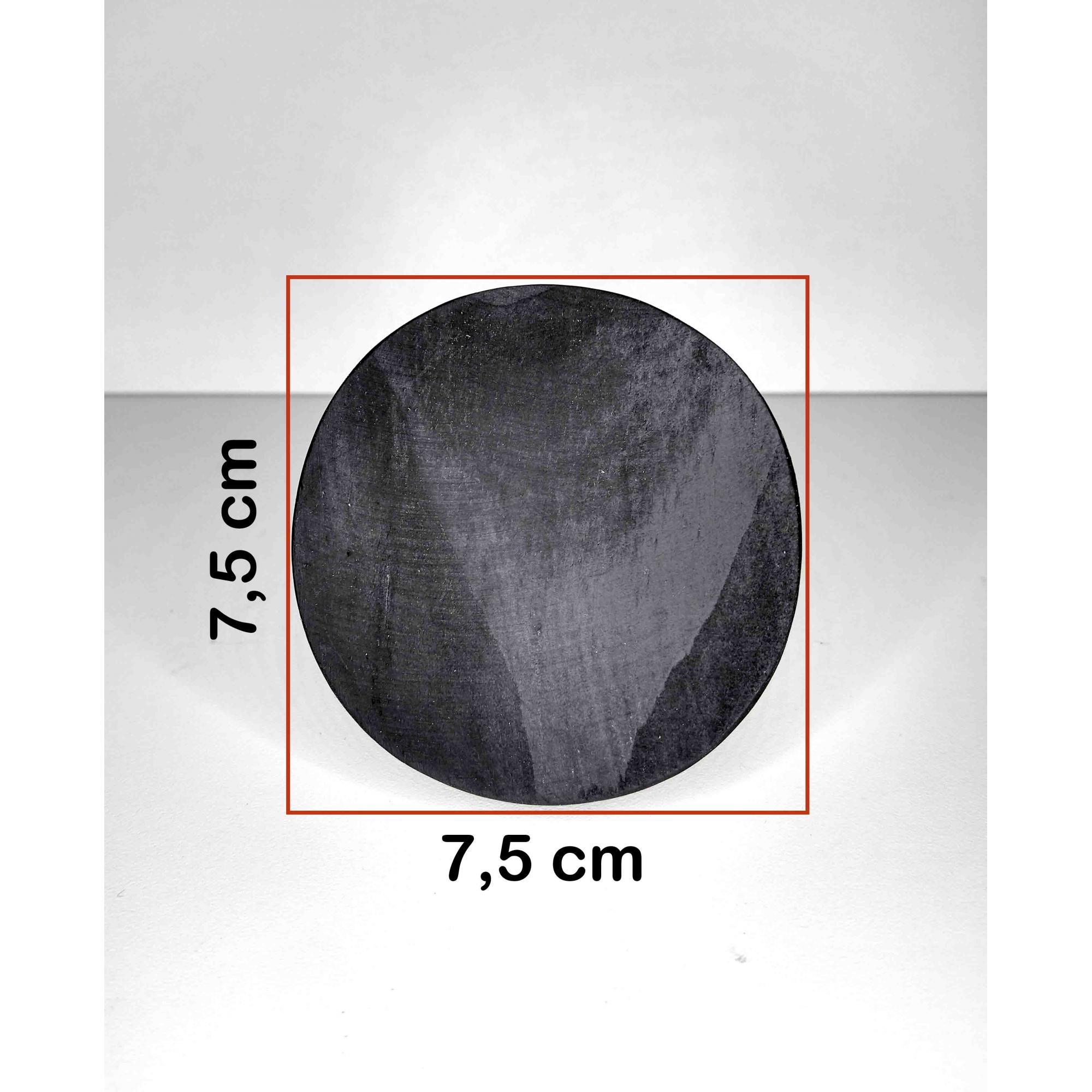 Cabide de Madeira Redondo Pinus Preto 7,5 cm Diâmetro - Unidade