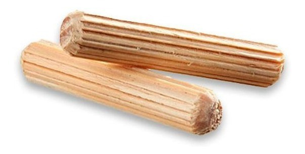 Cavilha madeira estriada 6 mm - 100 pcs