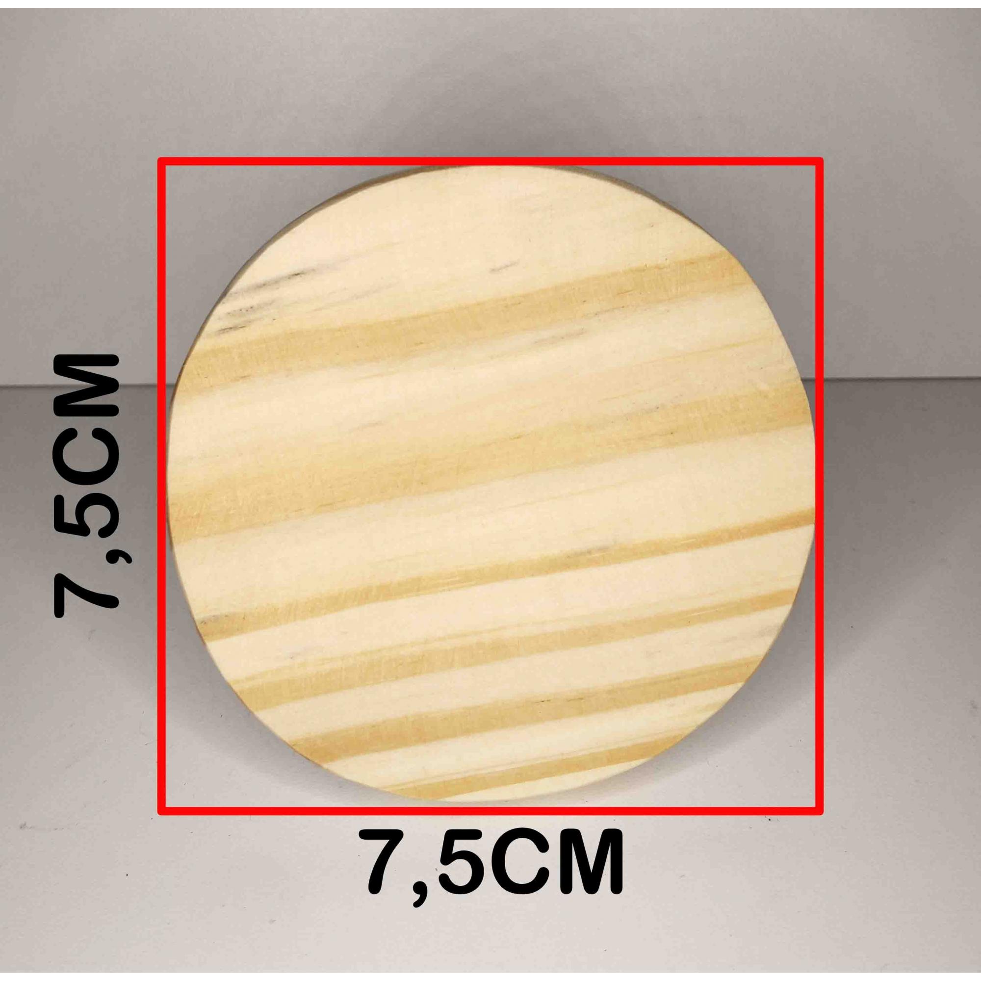 Cabide de Madeira Pinus Natural 7,5 cm Diâmetro - Unidade