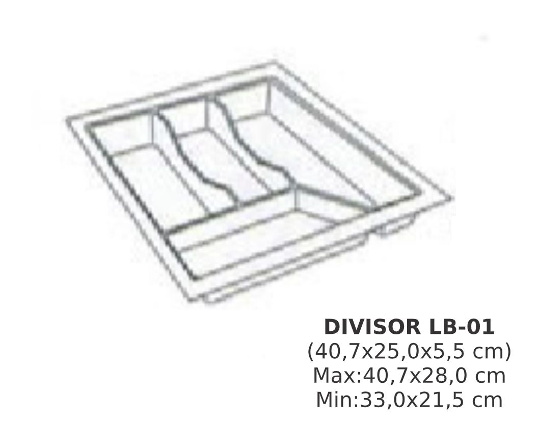 Organizador de talher LB-01 Ajustável (40,7x28,0 cm) Branco