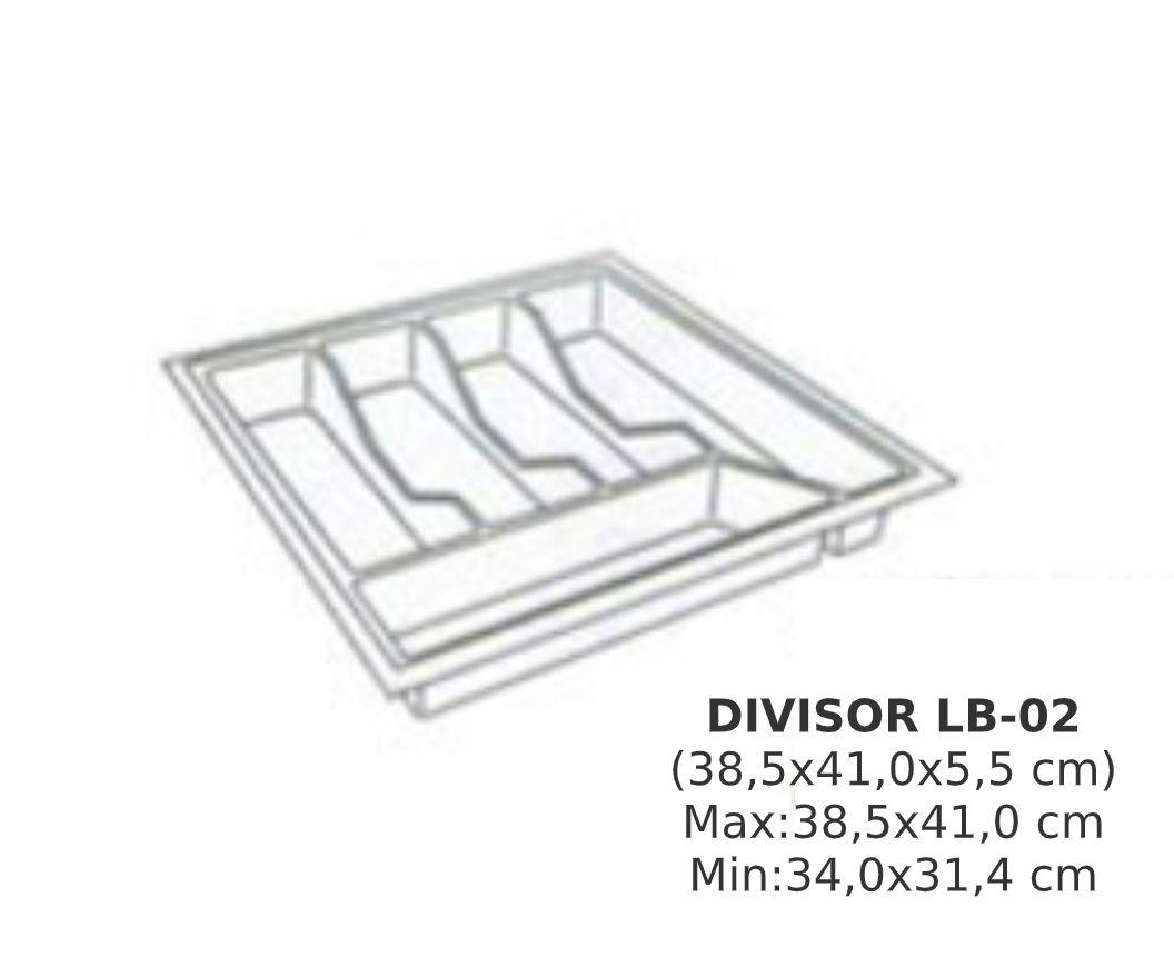 Divisor de Talher LB-02  Ajustável (38,5x41,0 cm) Branco