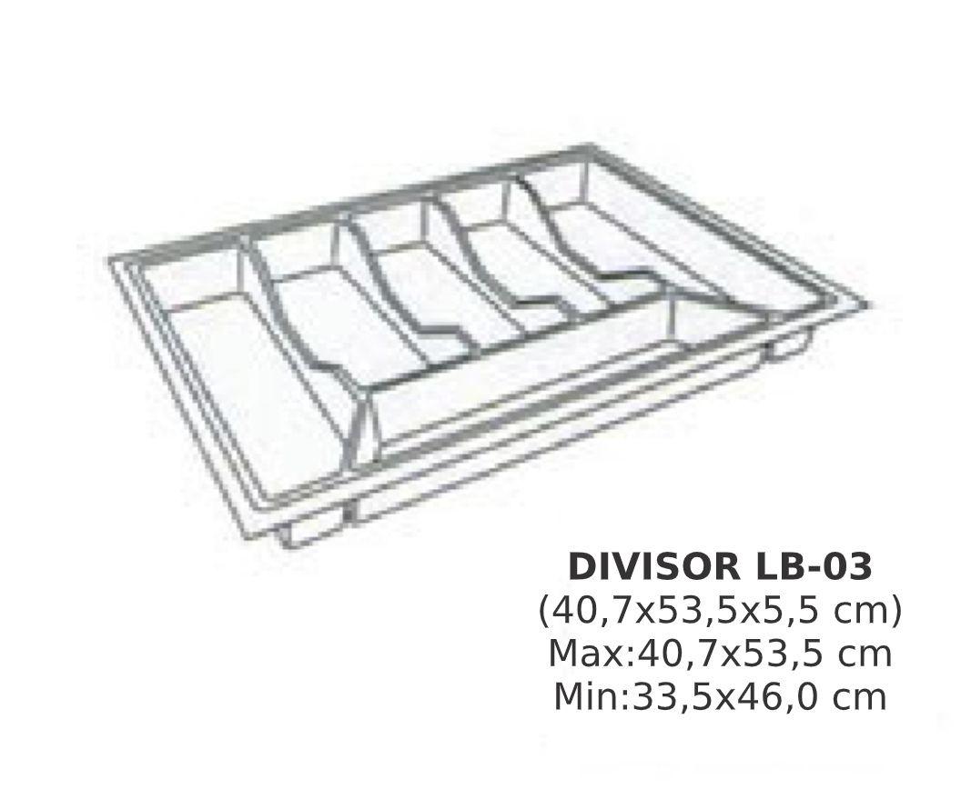 Organizador de Talher LB-03 Ajustável (40,7x53,5 cm) Branco