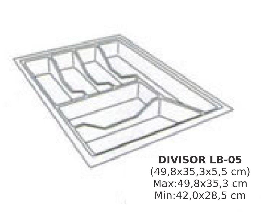 Divisor de Talher LB-05 Ajustável (49,8x35,9 cm) Branco