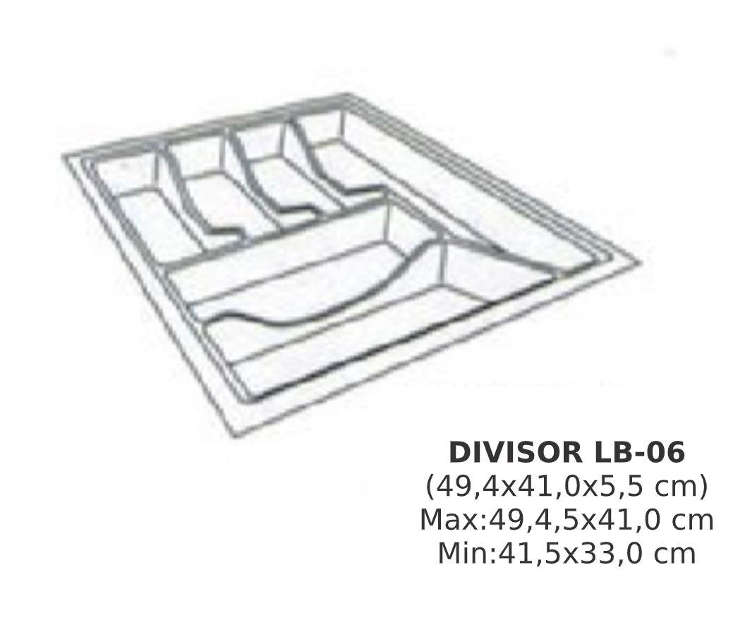 Organizador de Talher LB-06  Ajustável (49,4x40,5 cm) Branco