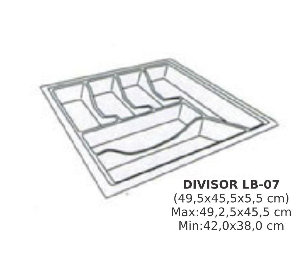 Divisor de Talher LB-07  Ajustável (49,2 x 45,5 cm) Branco