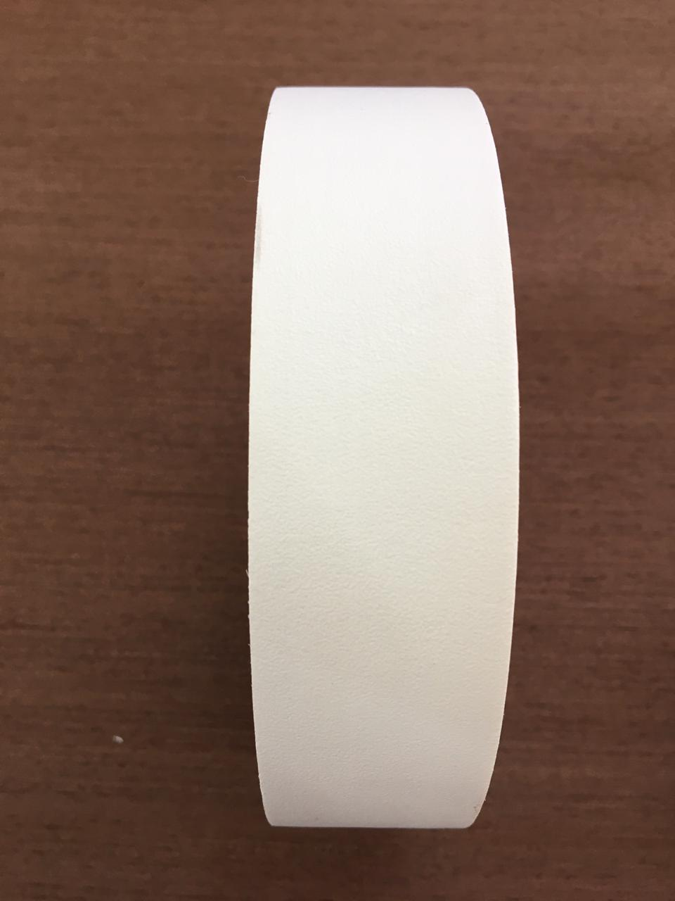 Fita de borda pvc branco texturizado 35mm x 20m