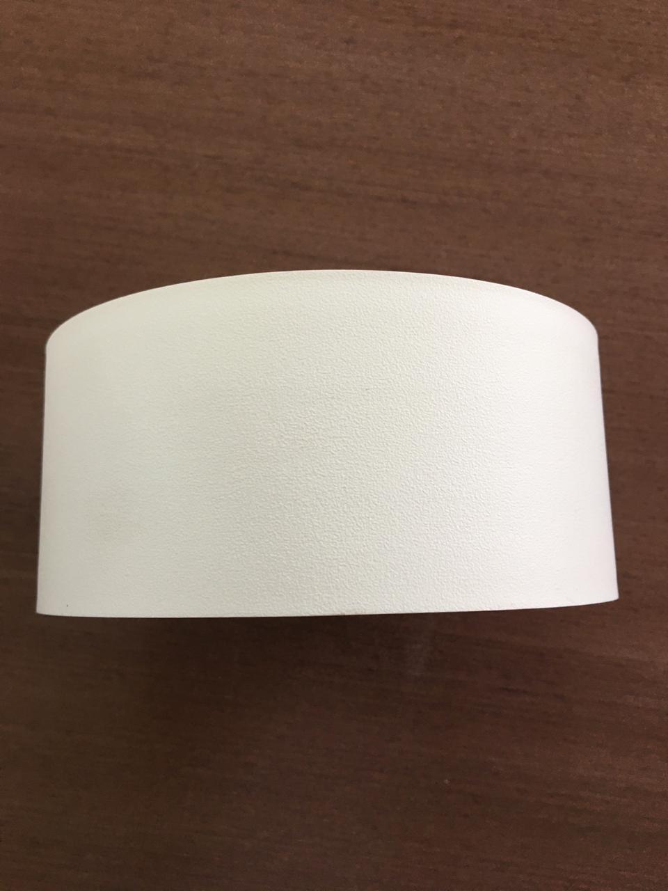Fita de borda pvc branco texturizado 65mm x 20m