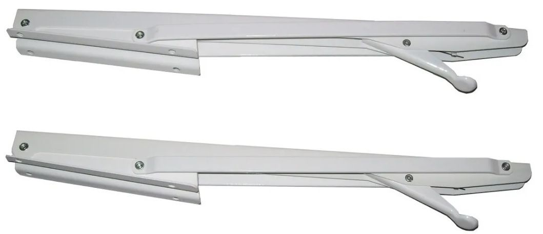 Mão francesa dobrável branco 30 cm