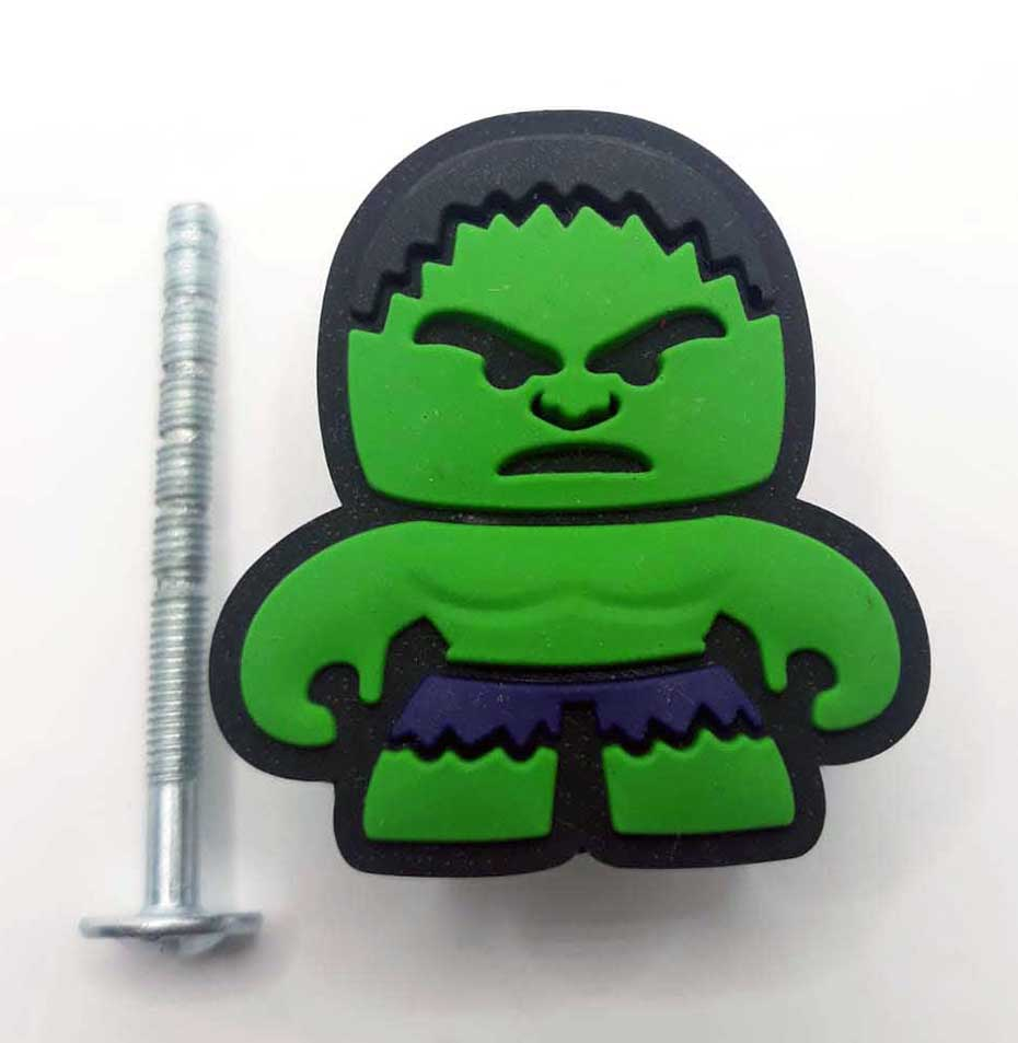 Puxador gaveta infantil emborrachado Hulk vingadores marvel