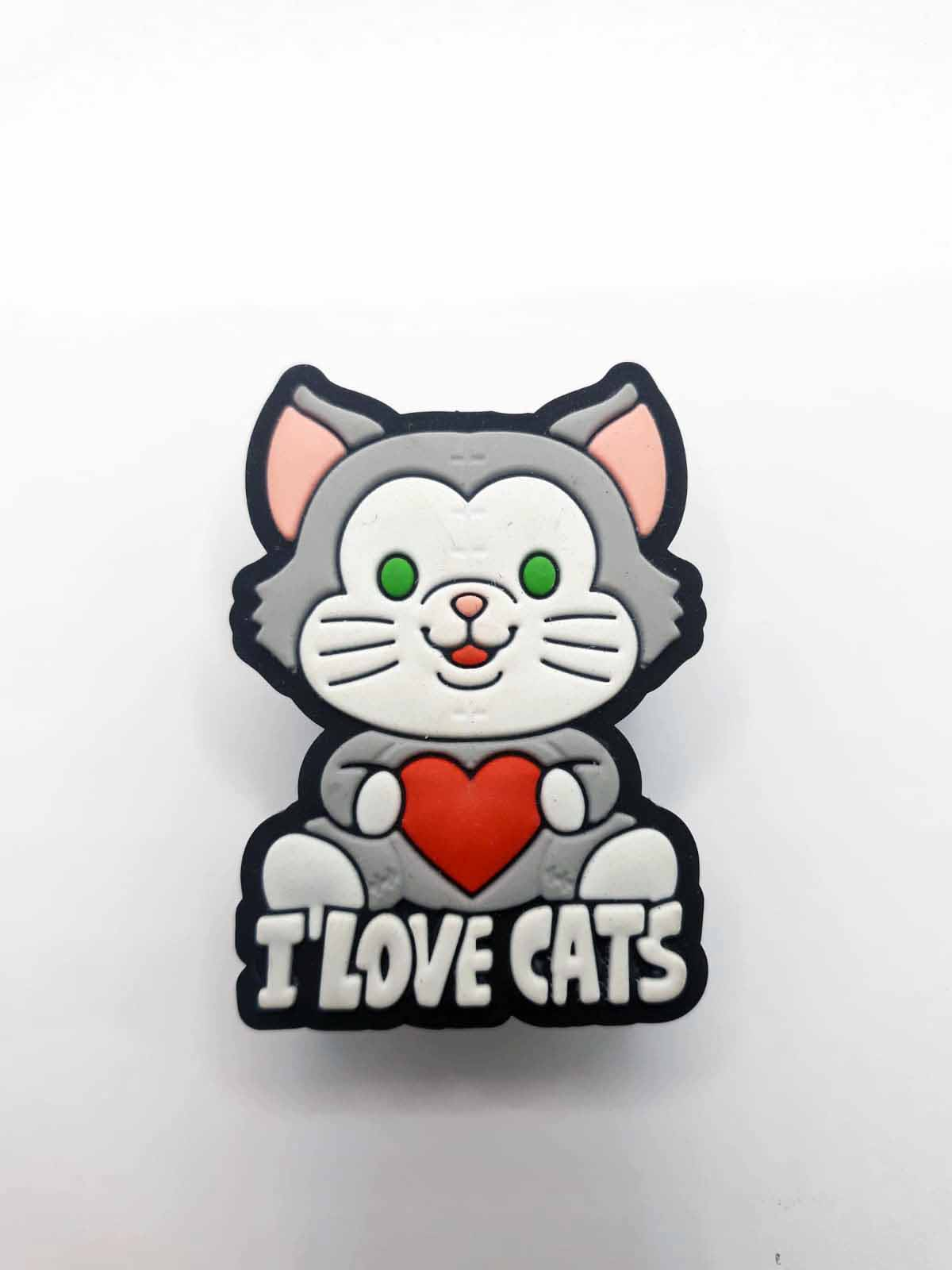 Puxador gaveta infantil emborrachado I LOVE CATS