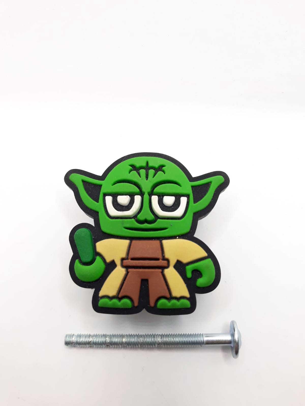 Puxador gaveta infantil emborrachado Mestre Yoda Star Wars