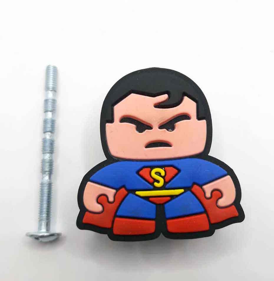 Puxador gaveta infantil emborrachado Super Homem dc cmomics