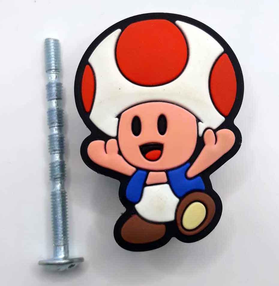 Puxador gaveta infantil emborrachado Toad nintendo
