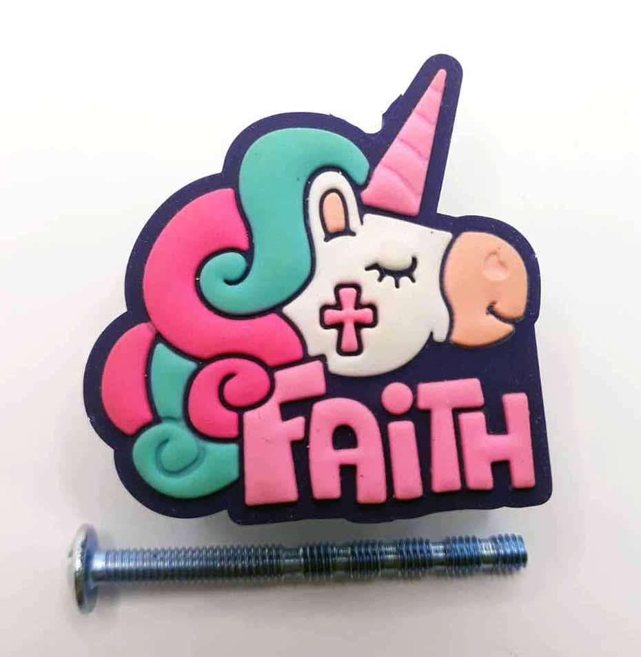 Puxador gaveta infantil emborrachado Unicórnio Faith