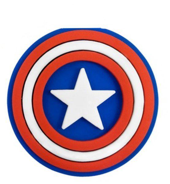Puxador Infantil Emborrachado Escudo Capitão América