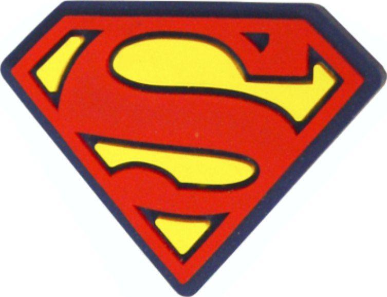 Puxador Infantil Emborrachado Escudo Super Homem