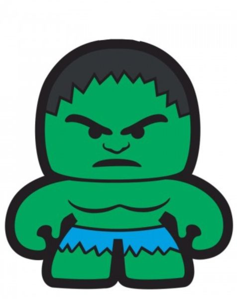 Puxador Infantil Emborrachado Hulk