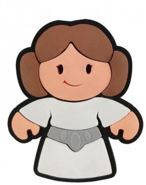 Puxador Infantil Emborrachado Princesa Léia Star Wars