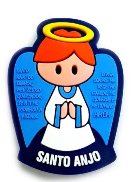 Puxador Infantil Emborrachado Santo Anjo Azul