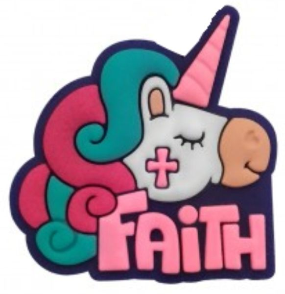 Puxador Infantil Emborrachado Unicórnio Faith