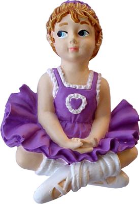 Puxador Infantil Resina Bailarina Lilás