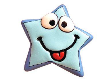 Puxador Infantil Resina Estrela Zoiúda Azul