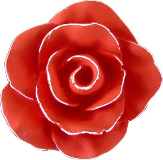 Puxador Infantil Resina Flor Provençal Vermelho