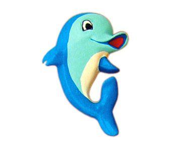 Puxador Infantil Resina Golfinho