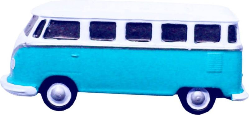 Puxador Infantil Resina Kombi Azul