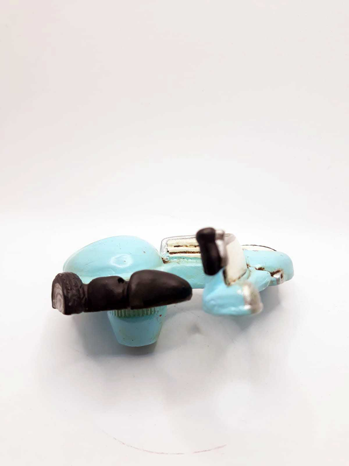 Puxador Infantil Resina Lambreta Azul