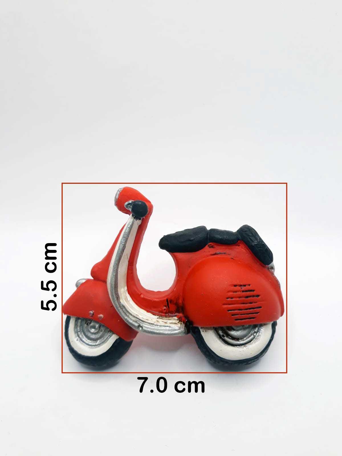 Puxador Infantil Resina Lambreta Vermelha
