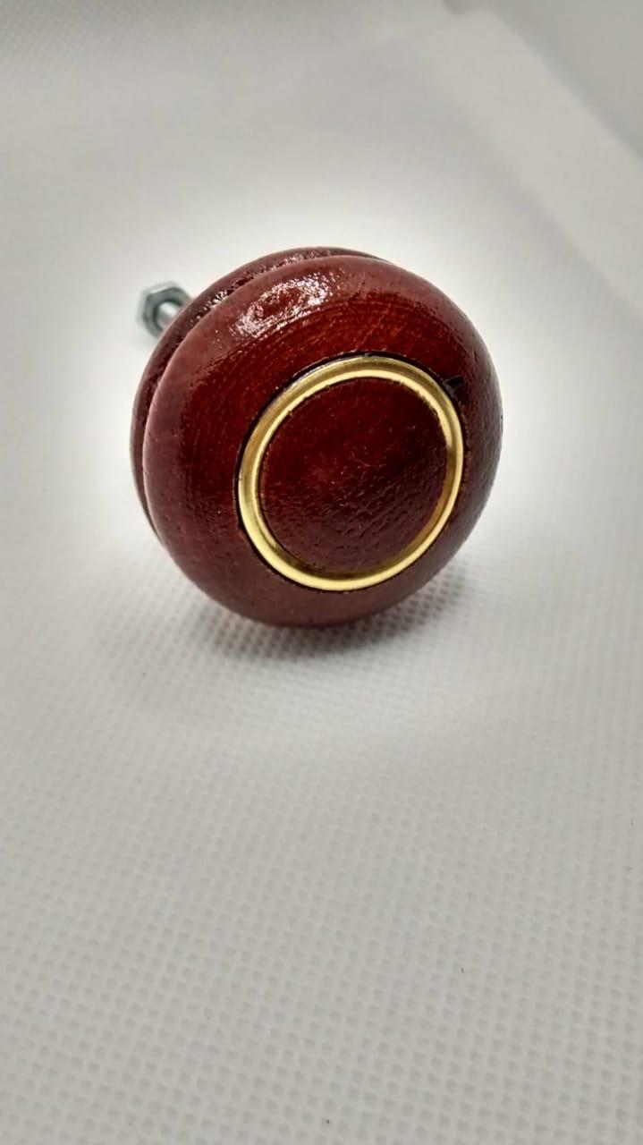Puxador ponto madeira com anel