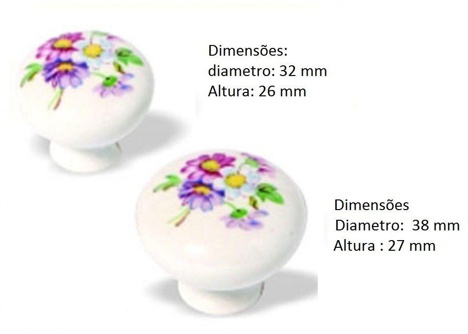 Puxador ponto porcelana 21010-F05