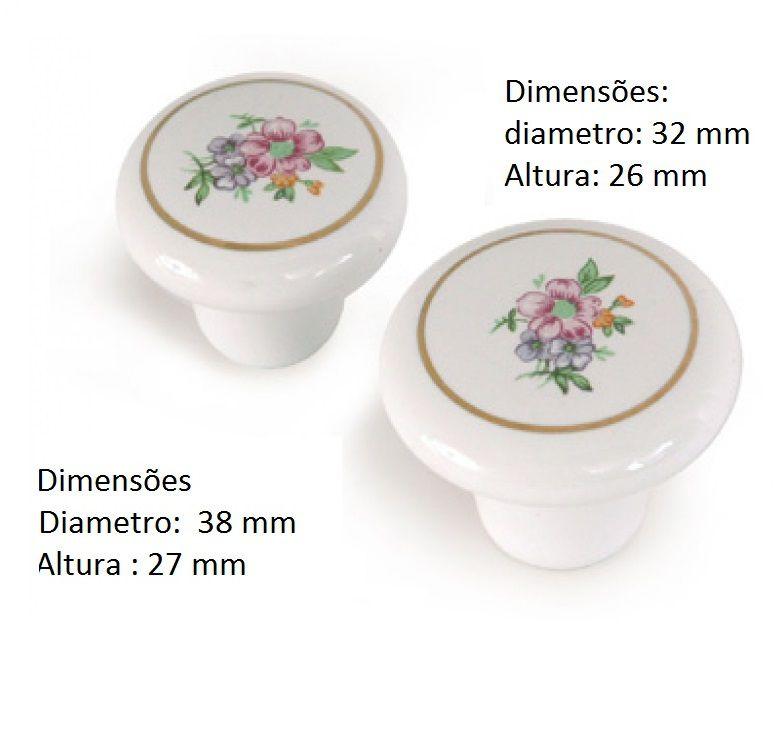 Puxador ponto porcelana 21900-F65