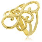 Anel Formas Modernas Dourado Duquesa Semi joias