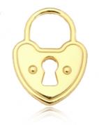 Pingente Cadeado Grande Dourado Folheado Duquesa Semi joias