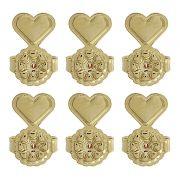 Tarraxas Mágicas Conjunto 3 pares Dourada Duquesa Semi joias