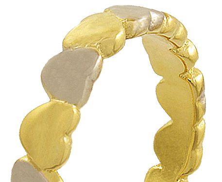 Anel Modelo Coração Dourado Prateado Duquesa Semi joias