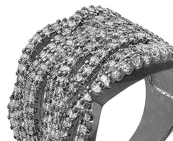 Anel Multi Camadas Zircônia Negro Duquesa Semi joias