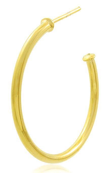 Brinco Argola Lisa Pequena Dourado Duquesa Semi joias